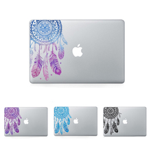 Feather Pattern Flowers Vinyl Decal Laptop Sticker For Macbook Air Pro Retina 11 12 13 15 Inch Laptop Skin For Macbook Air 13(China (Mainland))