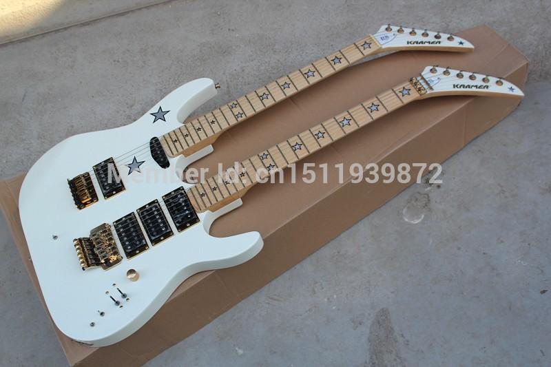New arrival kramer double slider electric guitar 6 6 string single shake shaking customize white pick-up single(China (Mainland))
