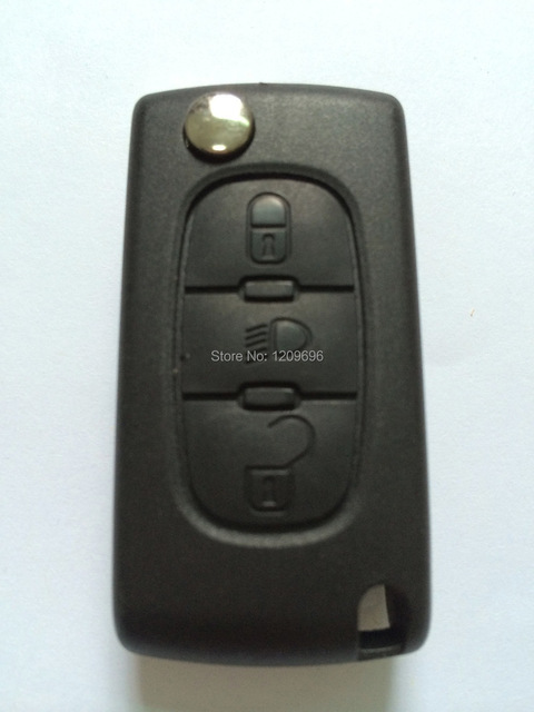 best peugeot 307 407 remote key case replacement shell 3b with light button no battery location. Black Bedroom Furniture Sets. Home Design Ideas