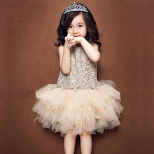2016 lace tutu dress girls clothes dresses  toddler lace prom children clothing little girl summer 2016 04