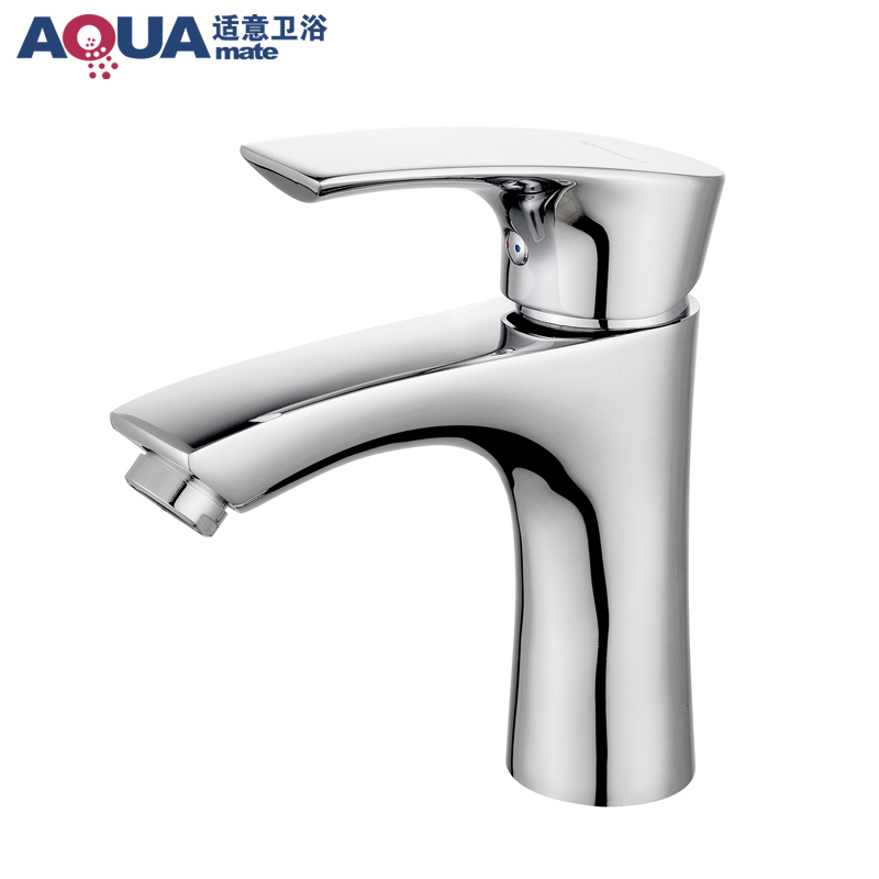 Agreeable full bathroom basin faucet hot and cold faucet copper single-hole faucet hot and cold taps