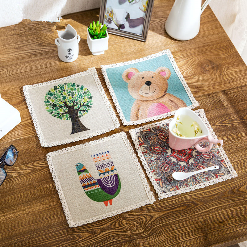 Buy Simple Cotton Cloth Placemat Table