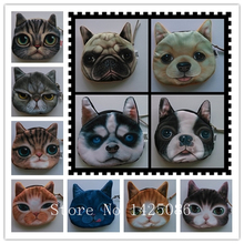 2014 New Cute Cat Face Zipper Case Coin Purse female Wallet / purses Makeup Buggy Bag Pouch