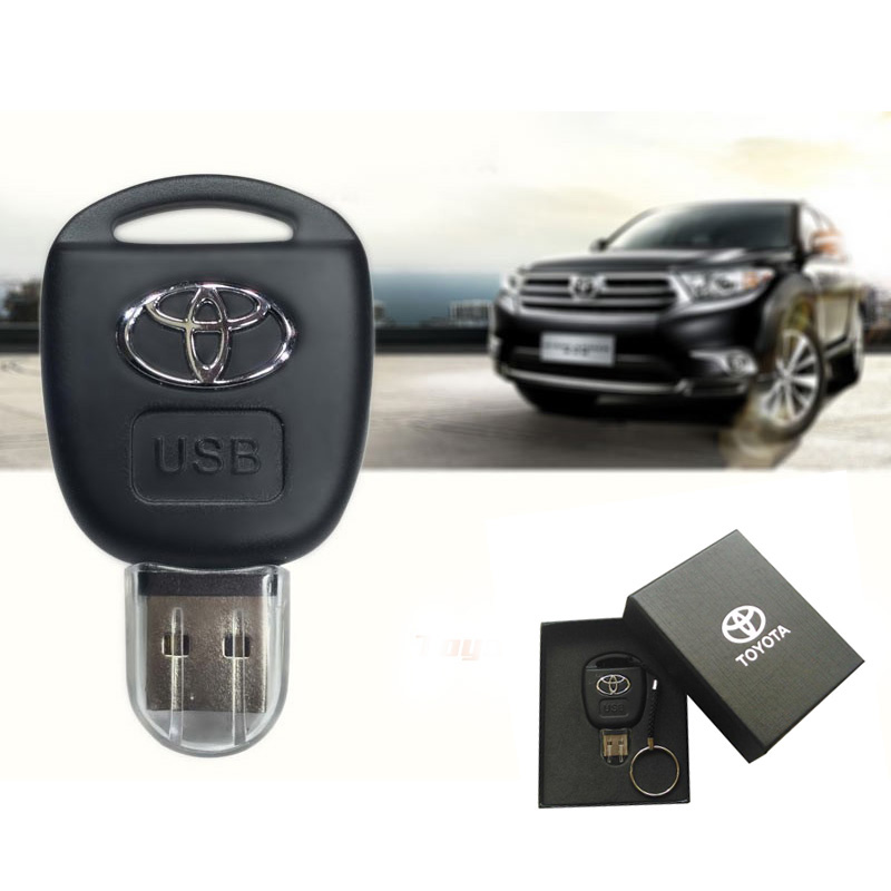 2017 Car Key Toyota USB Flash Drive 8GB 16GB 32GB 64GB Personalise Pen Drive USB Memory Stick Original Gift Box Storage device(China (Mainland))