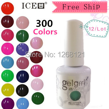 [ICE] Any 12 pcs a lot total 300 color, factory sale cheap gel nail polish<br><br>Aliexpress