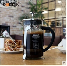 free shipping glass pressure pot stainless steel french press coffee pot coffee filter coffee pot household
