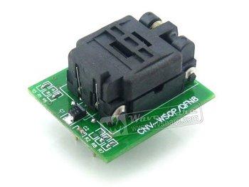 QFN8 TO DIP8 # QFN8 MLF8 MLP8 Plastronics QFN IC Programming Adapter Test Burn-in Socket 5.1x6.1mm 1.27Pitch + Free Shipping