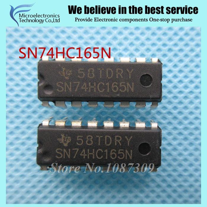 50pcs free shipping SN74HC165N 74HC165N SN74HC165 DIP-16 Logic Gates QUAD 2-INPUT AND GATE new original(China (Mainland))