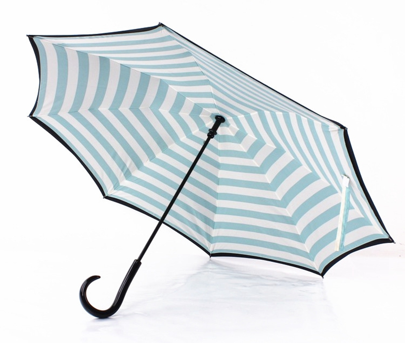 Navy upside down umbrella fashion reverse design opposite folding navy upside down umbrella fashion reverse design opposite folding novelty windproof clearrain long umbrella car umbrellas women us194 fandeluxe Images