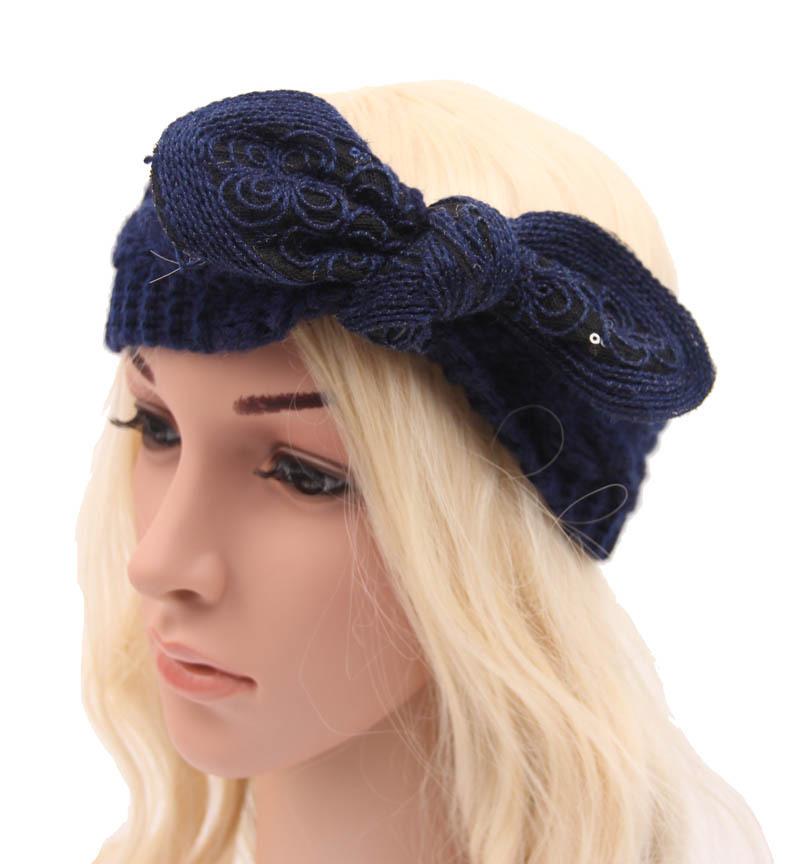 10pcs/lot women rabbit ears Knitting wool headband witer warm crochet headwrap turban fashion lady hair accessories(China (Mainland))