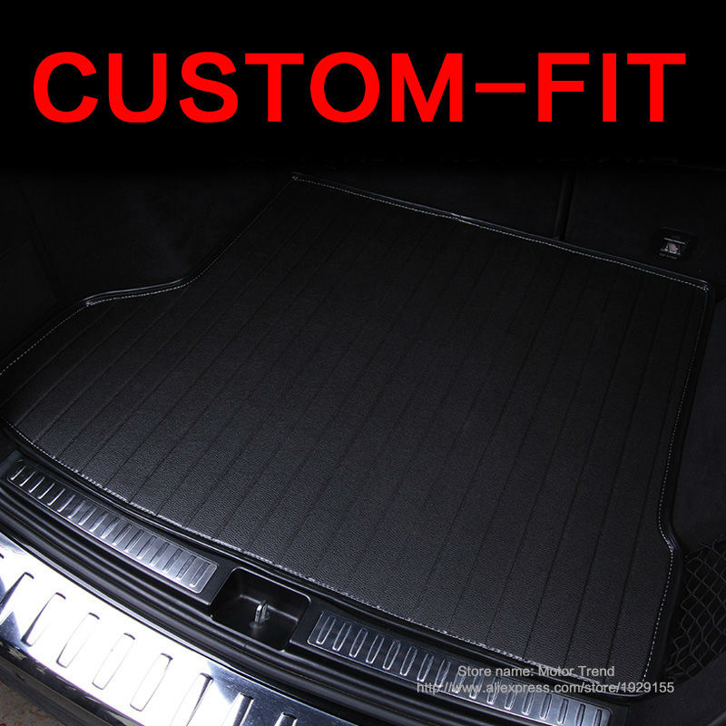 Custom fit car trunk mat for Audi A3 A4 A6 A7 A8 Q3 Q5 Q7 TT 3D car-styling heavy duty all weather tray carpet cargo liner(China (Mainland))