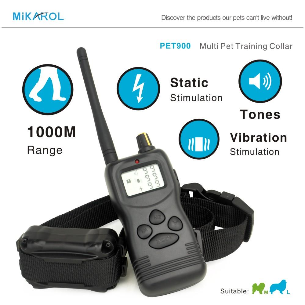 3 in 1 dog no bark collar shock pet electronic dog trainer barking dog training collar waterproof(China (Mainland))