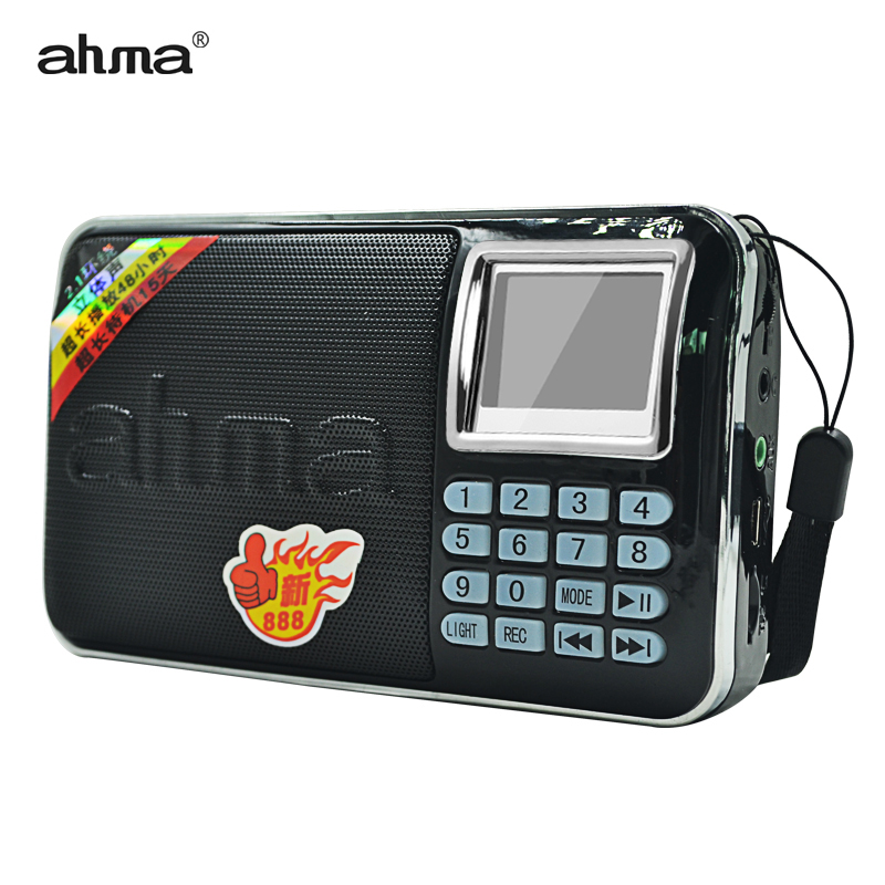 ahma new888 Mini FM Radio Rechargeable Portable Support TF Card USB Built-in Super Bass Loudspeaker Wireless with Display(China (Mainland))