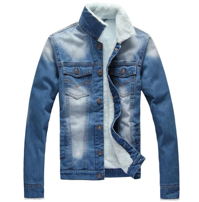 water wash wearing white vintage plus velvet thickening mens denim jacket autumn and winter thermal cotton-padded coat manОдежда и ак�е��уары<br><br><br>Aliexpress