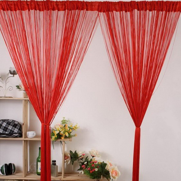 4 colors Luxury Fashion Curtains Kitchen Window Sheer Voile Line Cute Pattern Curtain(China (Mainland))