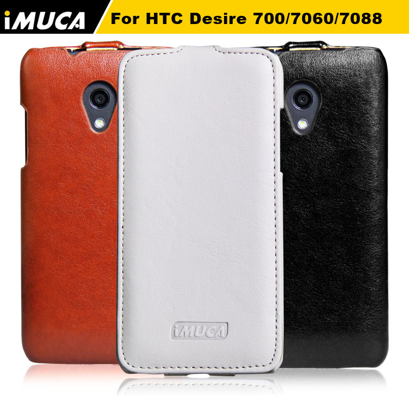 For HTC 700 case ,Luxury Vertical Flip Leather Phone Case Cover Pouch For HTC Desire 700 709d 7060 7088 Dual Sim Back Cover(China (Mainland))