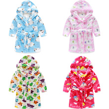 Free Shipping 2016 Sping New Boys And Girls Cotton Robes warm pajamas good quality  long Robes