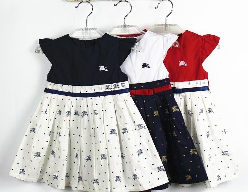 Teenage Girl Dress Princess 100%Cotton Little Girls Dresses for Kids/Children Clothing Summer Toddler Baby Infant Dress(China (Mainland))