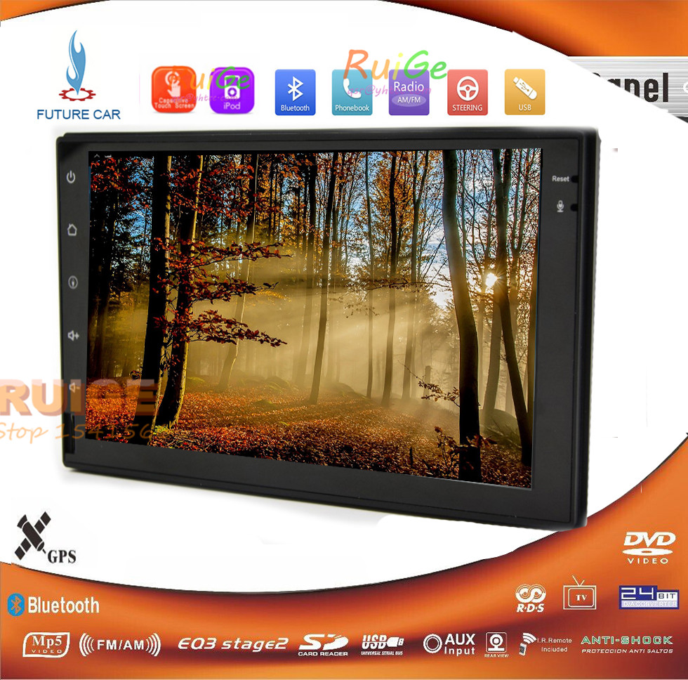 Future In-dash Car PC Tablet Android 4.4 Car GPS Navigation Ipod Wifi TV RDS Stereo Double 2-Din Car no-dvd Player()