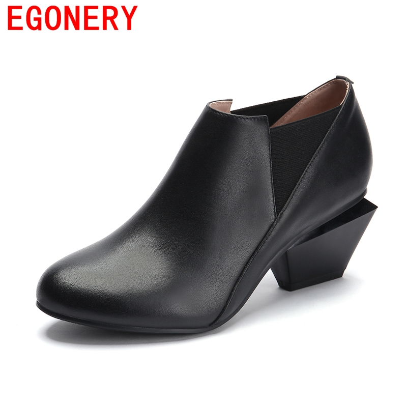 round toe Spring/Autumn Pumps beautiful office lady shoes fashion 2016 sexy high heels Women party Pumps genuine leather shoes<br><br>Aliexpress