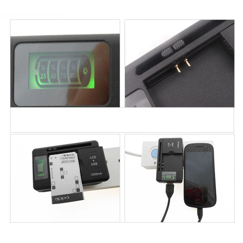 Factory Price New Mobile Universal Battery Charger LCD Indicator Screen For Cell Phones *USB-Port* 51102 P14<br><br>Aliexpress