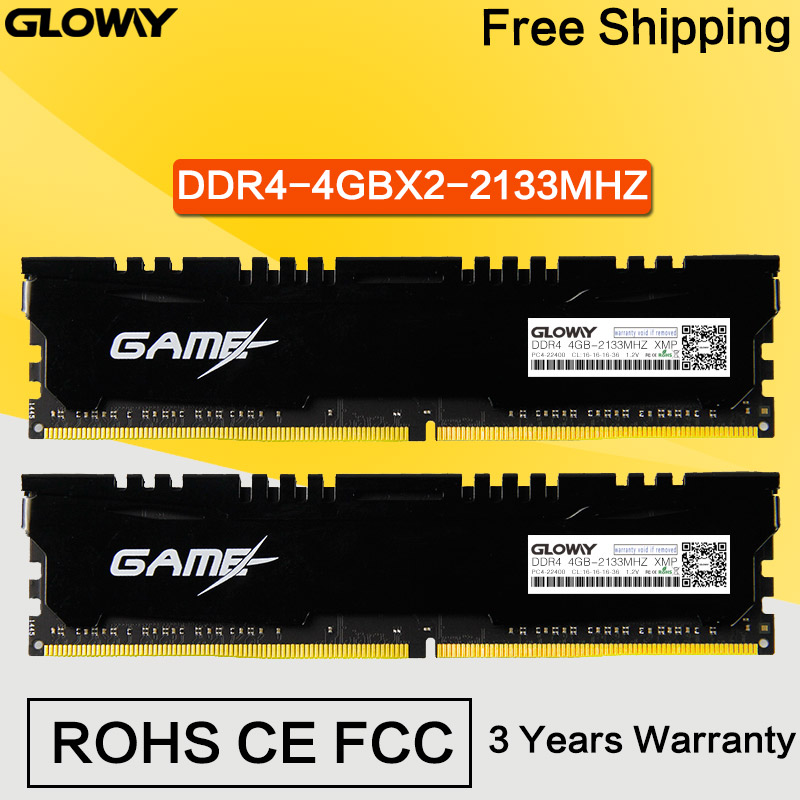 DDR4 4GX2 2400Mhz Memory RAM DDR4 RAM Bar 2133 MHz 1.2V DIMM 288PIN Desktop PC Computer Free Shipping High Speed For Gaming<br><br>Aliexpress