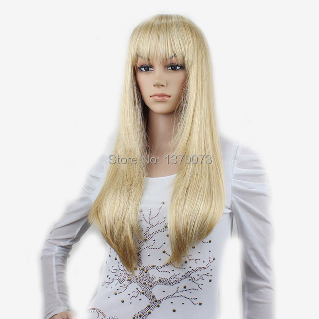 Long Blonde Wigs With Bangs - Wigs By Unique