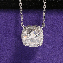 Solid 18K 750 White Gold 1 Carat ct F Color Moissanite Pendant Necklace With Real Diamond Accents(China (Mainland))