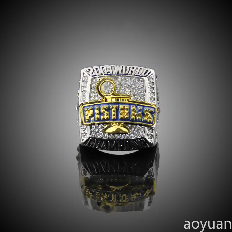 aoyuan Championship rings,2004 Detroit piston World championship ring, sports fans rings, men gift ring.(China (Mainland))