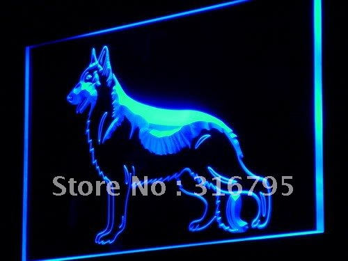 j242-b German Shepherd Dog Shop NEW LED Neon Light Sign Wholeselling Dropshipper(China (Mainland))