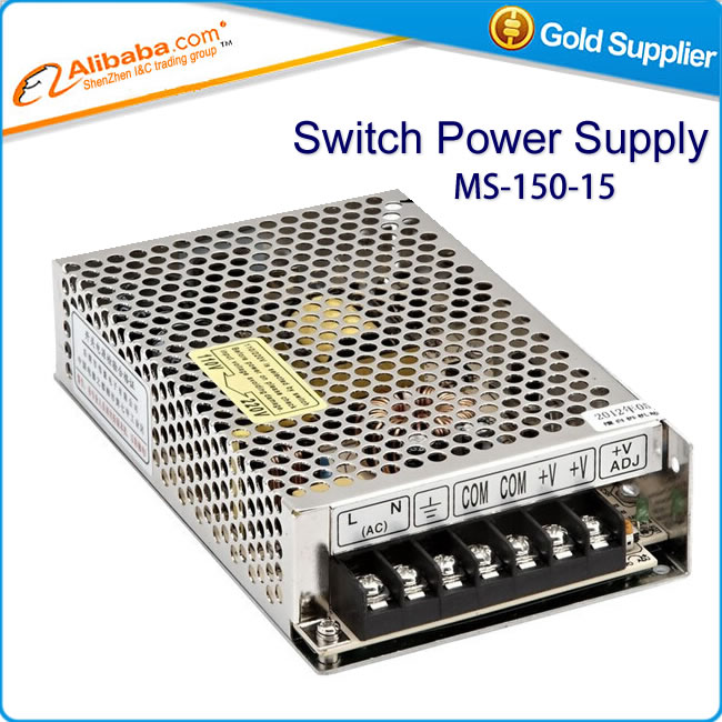 Free shipping Single output Switching power supply 15v 150w 10A MS-150-15<br><br>Aliexpress