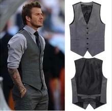 Высокое качество мужская весна и осень жилет мода свободного покроя бизнес тонкий ...