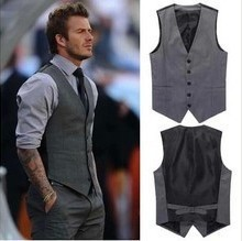 High Quality Men'S Spring And Autumn Vest Fashion Casual Business Slim Men Vest V-Neck Chaleco Hombre M26(China (Mainland))
