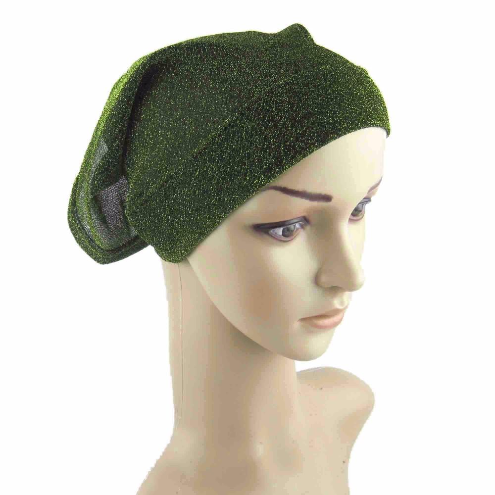 wholesale Muslim Sparkle glitter tube bonnet Islamic Head Wear cover hijab hat ca07(China (Mainland))