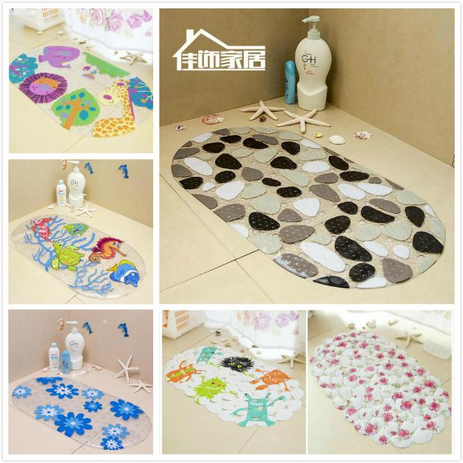 Household Bath mat shower room mat mats PVC Bathroom set rug Bath mats Blanket carpet Mulit 71*38cm Free shipping(China (Mainland))