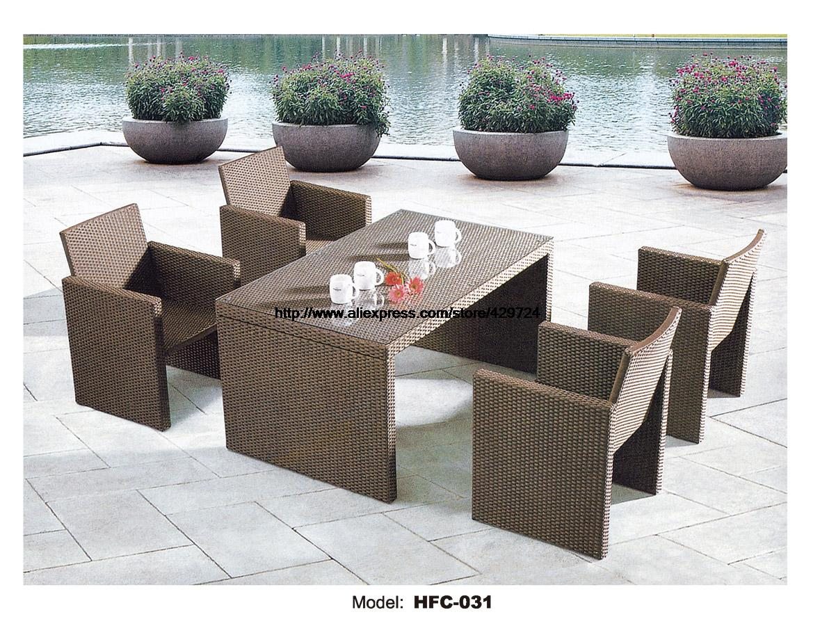 Small garden table chair set 130cm table 4 chairs rattan for Small table and 4 chair set