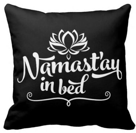 Custom Namaste Mandala Funny Quote Cute Unique Throw Pillow Square Zippered Twin Sides Print Throw Pillowcase Cover Pillow Sham(China (Mainland))