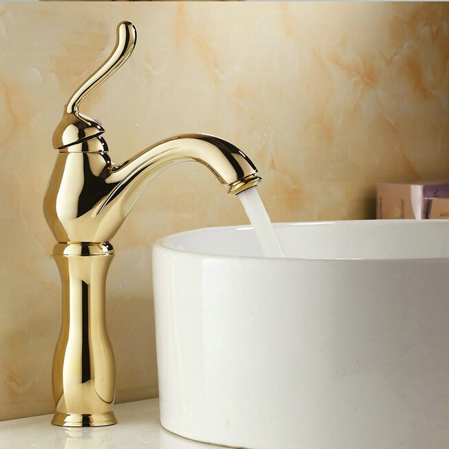 Free Shipping 13 New Design Gold Faucet Gold Bathroom Faucets Gold Fini