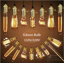 Vintage edison lampadine a incandescenza e27 lampadina st64 g80 lampadina lampadina a filamento di carbonio a gabbia di scoiattolo retro edison luce per lampada a sospensione(China (Mainland))