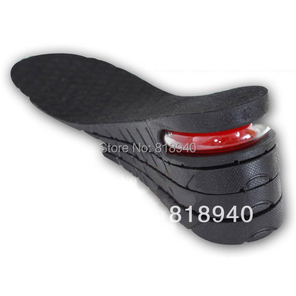 3 Layer Men Up Air Cushion Increase Height Insole Elevator Shoe Lift Taller Pad(China (Mainland))
