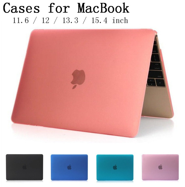 New Crystal/Matte Hard Shell Case Cover for Apple Macbook Air Pro Retina 11.6 12 13.3 15.4 inch Laptop Cases For Mac book bag(China (Mainland))