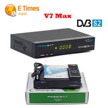FREESAT V7 Max Satellite Receiver 1080P Full HD DVB-S2 Support USB PVR Ready and USB wifi DVB-S2 Tuner to Network Sharing TV Box