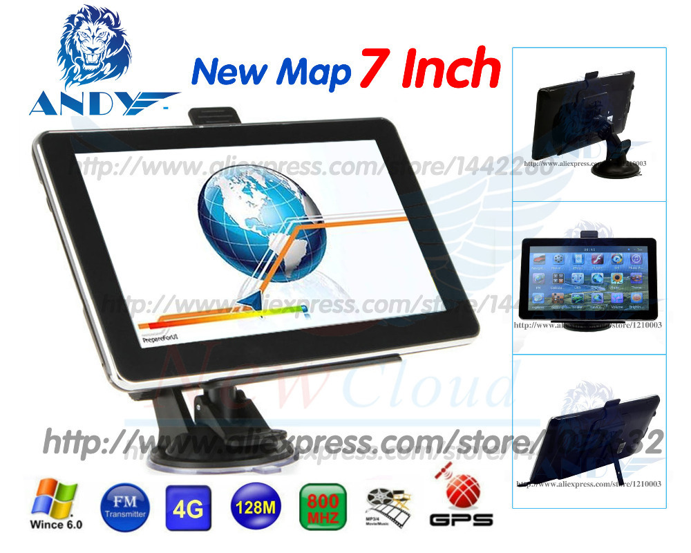 2015 7 inch HD Car GPS Navigator 800M/ FM/4GB/DDR3 New Maps For Australia Russia/Belarus/Kazakhstan Europe/USA+Canada TRUCK(China (Mainland))