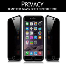 """50pcs for apple iphone 6 6S 4.7"""" 2.5D anti spy privacy tempered glass screen protector for iphone 6 6S guard glass film"""