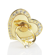 Shine bling rhinestone love heart, ring phone / tablet holder portable finger stand for iphone ipad htc samsung gift rosered
