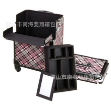 Supply of new large multi-assembled kit professional makeup box Trolley Trolley Cosmetic Case(China (Mainland))