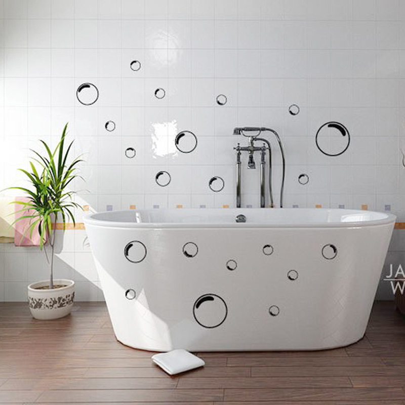 21pcs funny bubbles bathroom shower mirror screen door for Deco salle de bain stickers