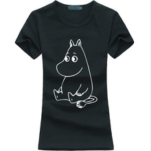 Buy 2017 New Cartoon MOOMIN Letters Print Women T-shirt Hipster Casual Funny Tee Shirt Femme harajuku fashion brand punk Kawaii tops for $4.39 in AliExpress store