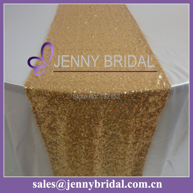 Tr064 3 12 inch x 108 inch fancy gold sequin table runners for 108 inch table runners