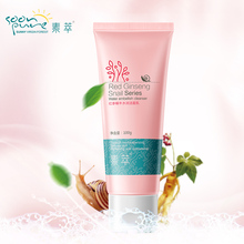 SOONPURE Red Ginseng Snail Facial Cleanser Skin Care Acne Treatment Black Head Remover Deeply Clean Face Ageless Whitening(China (Mainland))